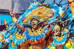 Januari 24th 2016 Iloilo Filippinerna Festival Dinagyang Unid royaltyfria bilder