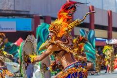 Januari 24th 2016 Iloilo Filippinerna Festival Dinagyang Unid fotografering för bildbyråer