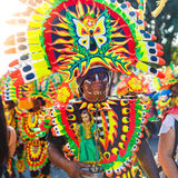 Januari 17th 2016 Kalibo Filippinerna Festival ATI-Atihan uni Royaltyfri Fotografi