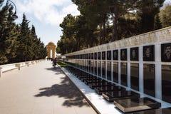 20 Januari-tragedie in Baku Shehidlar Hiyabani Royalty-vrije Stock Afbeelding
