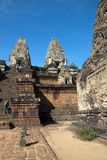 Januari 2 2018, turister på trappuppgång av för thr den 10th för århundrade Rup Pre templet Arkivbilder