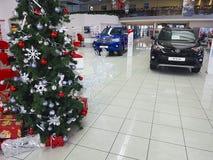 21 januari van de het handel drijvenhandelaar van de Oekraïne Kiev Toyota van 2018 vechicle van de het handel drijventoonzaal de  Stock Afbeelding