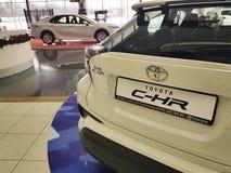 21 januari van de het handel drijventoonzaal van de Oekraïne Kiev Toyota van 2018 de officiële officiële fabrikant Royalty-vrije Stock Foto
