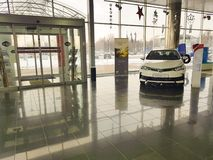 21 januari van de het handel drijventoonzaal van de Oekraïne Kiev Toyota van 2018 vechicle de officiële officiële fabrikant Royalty-vrije Stock Afbeelding