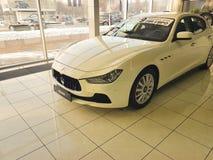21 januari, van de de Motorshow van de Oekraïne Kiev van 2018 autocar van Maserati bedrijfsstijl Stock Foto's