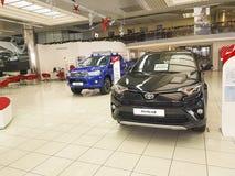 21 januari van het de handelaars officiële handel drijven van de Oekraïne Kiev Toyota van 2018 vechicle de toonzaal officiële fab Stock Afbeeldingen
