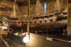 21 januari, 2017: Vasa schipmuseum in Stockholm, Zweden Royalty-vrije Stock Foto's