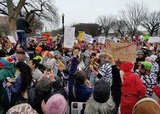 21 JANUARI, 2017 Vrouwen` s Maart protesten Stock Afbeelding