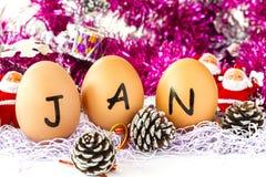Januari zet op Stock Fotografie