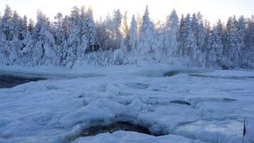 Januari in Zweden Stock Foto