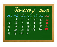 January 2013. Royalty Free Stock Photo