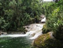 Free January 7, 2016, Itatiaia, Rio De Janeiro, Brazil, Itaporani Waterfall In The Middle Of The Forest Of Itatiaia National Park. Stock Images - 124483604