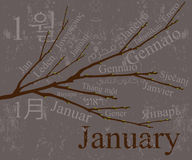 January. 2009 Calendar concept, simple to edit it, all the dates trusted from the PC calendar Stock Photography