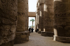 January 2016: Ancient ruins of Karnak temple, Luxor, Egypt royalty free stock photography