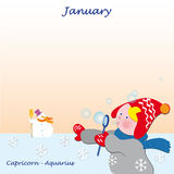 January base calendar to add the days Royalty Free Stock Photo