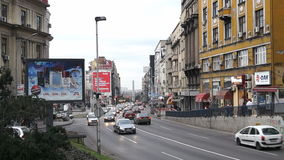 January 12, 2014, Belgrade, Serbia, Traffic at Brankova street Royalty Free Stock Images