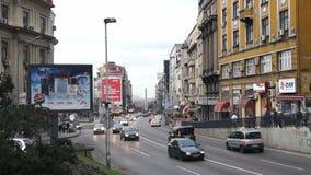 January 12, 2014, Belgrade, Serbia, Traffic at Brankova street Royalty Free Stock Images