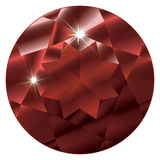 January Birthstone-Garnet. A stylized and abstract illustration of the stone Garnet, January's birthstone. EPS file compatible with Adobe Illustrator 9 and up Stock Photo