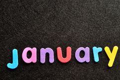 January on a black background Stock Photography