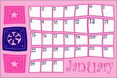 January calendar Royalty Free Stock Photo