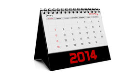 January 2014. Calendar in english in 3d Stock Images