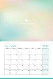 January 2017 calendar Stock Image