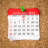 January 2014 Stock Image