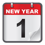 1 January calendar on white background. Royalty Free Stock Photography