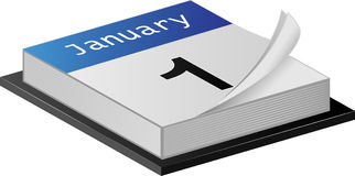 January Calender Royalty Free Stock Image