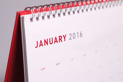January 2016 Stock Photo