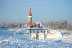 January cold day at the Priory Palace. Gatchina Stock Image
