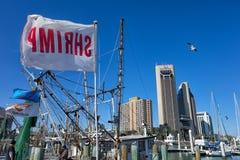 Shrimping boat flag Texas Stock Image