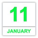 January 11. Day on the calendar. Royalty Free Stock Photos