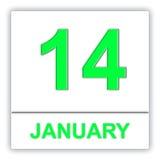 January 14. Day on the calendar. Stock Photography