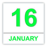 January 16. Day on the calendar. Royalty Free Stock Photos
