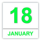January 18. Day on the calendar. Royalty Free Stock Photography