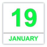 January 19. Day on the calendar. Royalty Free Stock Photography
