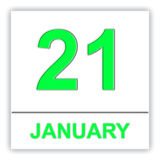January 21. Day on the calendar. 3D illustration Royalty Free Stock Images