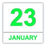 January 23. Day on the calendar. Stock Photos