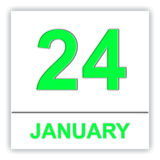 January 24. Day on the calendar. Royalty Free Stock Photos