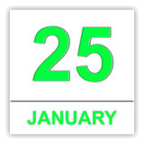 January 25. Day on the calendar. Stock Photos