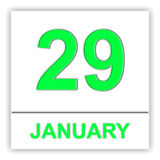 January 29. Day on the calendar. Stock Image