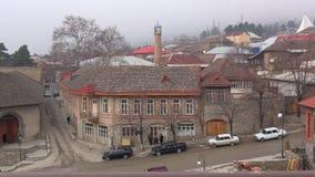 January day in Sheki. Azerbaijan. Cloudy, january day in Sheki. Azerbaijan stock video