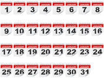 January days. January stickers days isolated on  white Stock Photography