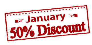 January fifty percent discount Stock Photo