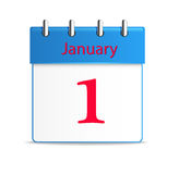 January First Calendar Date. (Vector Stock Image