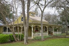 Victorian architecture building in Gruene Texas Royalty Free Stock Photo