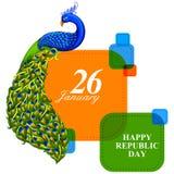 26 January Happy Republic Day of India background. Vector illustration of 26 January Happy Republic Day of India background Stock Photo