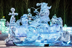 January 2015 - Harbin, China - International Ice and Snow Festival Stock Photography
