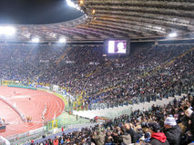 19 January 2009. Italian Championship Soccer Serie A. Stadio Olimpico in Rome, Italy. Lazio against Juventus. Curve Lazio fans Stock Images